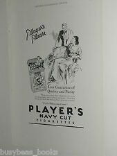 1932 Players Navy Cut Cigarettes ad