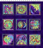 Laurel Burch Celestial Magic Dark Purple Clothworks Fabric