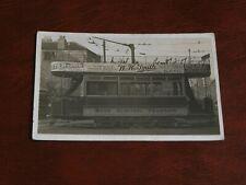 More details for original real photo postcard,bath electric tramways,adverts,transportation.