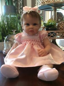 SO TRULY ASHTON DRAKE ALL DOLLED UP OLIVIA SILICONE BABY DOLL BY LINDA MURRAY 19