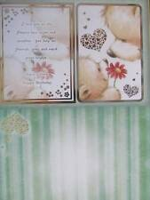 Die Cut Foiled Card Topper & Accent-Foiled A4 Card Blank Bears Hunkydory New
