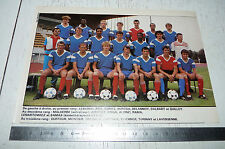 CLIPPING POSTER FOOTBALL 1987-1988 ENTENTE MELUN FONTAINEBLEAU