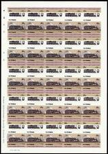 1928 Boston & Albany (B&A) Class D1a 4-6-6T Imperf/Imperforate Train Stamp Sheet