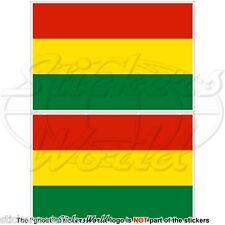 """BOLIVIA Bolivian Civil Flag 75mm (3"""") Vinyl Bumper Stickers Decals x2"""