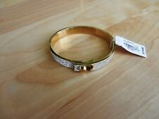 Michael Kors Goldtone Pave' Hinge Bangle  MSRP $175