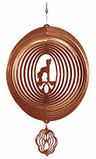 Swen Products Chinese Crested Dog Circle Copper Swirly Combo Metal Wind Spinner