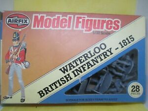 VINTAGE AIRFIX 1/32 WATERLOO BRITISH INFANTRY 1815 BOXED NEAR MINT CONDITION
