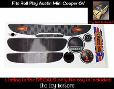 Spare Part Stickers Decals Replacement fits Rollplay Mini Cooper 6V Union Jack