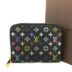 Louis Vuitton Monogram Multicolor Zippy Zip Around Wallet Coin purse /E1458