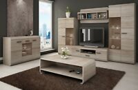 Living Room Furniture Set Cabinet Cupboard Floating Tv Unit Stand Display Sonoma
