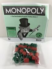 2008 Monopoly INSTRUCTIONS HOTELS HOUSES Speed Die Board Game Part Replacement