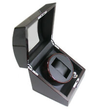 Dark Lacquered Finish Storage Display Automatic Single Watch Winder Wooden