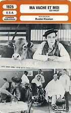 Fiche Cinéma. Movie Card. Ma vache et moi/Go West (USA) 1925 Buster Keaton