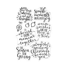 "New Hero Arts  ""MERRY AND BRIGHT MESSAGES"" Photopolymer Clear Stamps Set 2018"