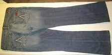 """7 For All Mankind Woman's Jeans Blue Size 30 w/ 33 1/2"""" Waist Flare 29"""" Inseam"""
