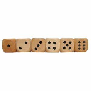 WE Games Wooden Dice - Set of 6