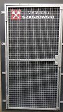 Gittertür Feuerverzinkt Einbruchschutz auf Maß - Modell Wellgitter