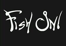 Fish On Sticker Vinyl Decal - Car Truck Window Boat Kayak Fishing Hunting Sports