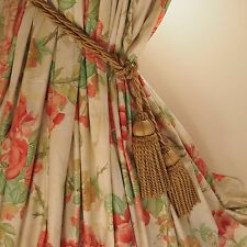 "DESIGNERS GUILD VINTAGE ROSE BAY PINK GREEN CURTAINS   63""/126"" WIDE x 102"" LONG"