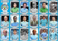 Manchester City 1968 Division One Champions football trading cards (1967-68)