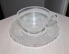 Vintage Cambridge Crystal Coffee Tea Cup and Saucer
