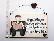 Stripped of His Youth Wall Plaque Birthday Gift Ideas For Him Dad Grandparents