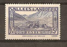Andorra ( Correo Francés ) : 1943 Andorra la Vella ( MLH )