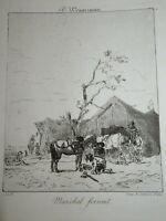 John Lewis BROWN (Bordeaux 1829-1890) GRAVURE MARECHAL FERRAND WOUVERMANS 1870