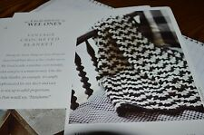 ChurchMouse Knitting Pattern  Vintage Crochet Baby Blanket