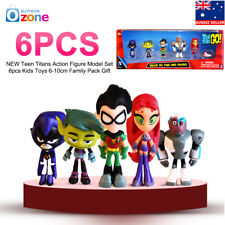 Teen Titans Go Hero Raven Robin Cyborg Starfire Kids Action Figure Model Toys