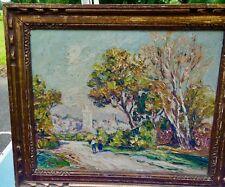 GRANDE Peinture de  HURARD Joseph ,HUILE  sur PANNEAU,AVEYRON,