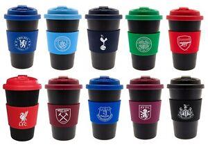 Football Club Team Travel Mug Flask Plastic Cup Easy Grip