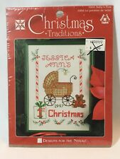 Designs for the Needle Christmas Traditions 1st Christmas Cross Stitch Kit  Baby