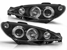 RINGS HEADLIGHTS RHT LPPE03 PEUGEOT 206 2002- ANGEL EYES BLACK