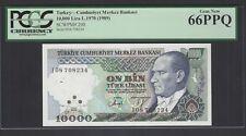 Turkey 1000 Lira L.1970(1989) P200 Uncirculated Grade 66