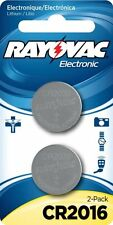 Rayovac Batteries (Quantity 2 - Coin/Button Cell - CR2016/CR2025/KECR2016-2A)