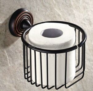 Oil Rubbed Bronze Bathroom Wall Mounted Toilet Paper Holder Shower Basket Yba071