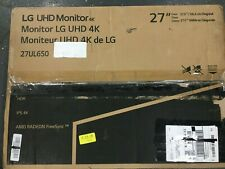 "LG - 27"" 4K UHD Monitor - Black/White"
