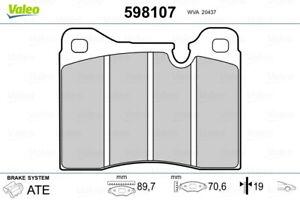 Valeo Brake Pad Set Front 598107 fits Ferrari 365 GTB/4 Daytona 4.4 (259kw)