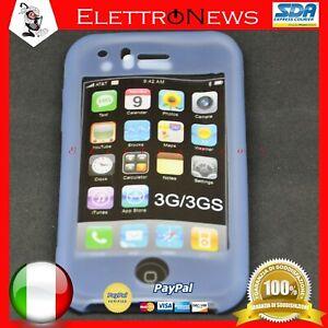 Custodia Cover TPU Morbida Trasparente Viola Iphone 3G Apple Antiurto