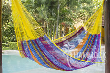 Nylon King Size Hammock in Confeti Hand-woven Authentic Mexican Hammock