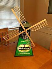 Vintage Heineken Lighted/Animated Windmill Professional Bar Display