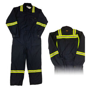 Workrite Hi Vis Flame Resistant Reflective Safety Vented Coverall FR Clothes 56L