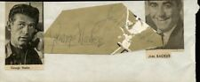 George Nader - Signature(S) Co-Signed By: Jim Backus