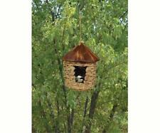 LARGE HANGING GRASS TWINE ROOSTING POCKET BIRDHOUSE with ROOF, SE10355       #dm