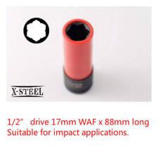 "1/2"" Dr MS17mm Flower Cr-Mo 88mmL Deep Impact Wheel Lug Nut Socket Mercedes-Benz"
