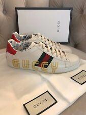 Gucci Women New Ace Guccy Sega Print Low Top Sneakers White Sz 39.5 40 NIB! $820