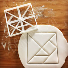 Square Tangram cookie cutter mathematics dissection puzzle math geometry biscuit