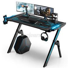 120cm LED Gaming Tisch Computertisch Schreibtisch Gamer Desk Bürotisch PC Tische