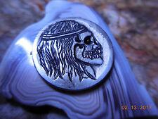 19xx Long Hair Skull Buffalo Nickel.